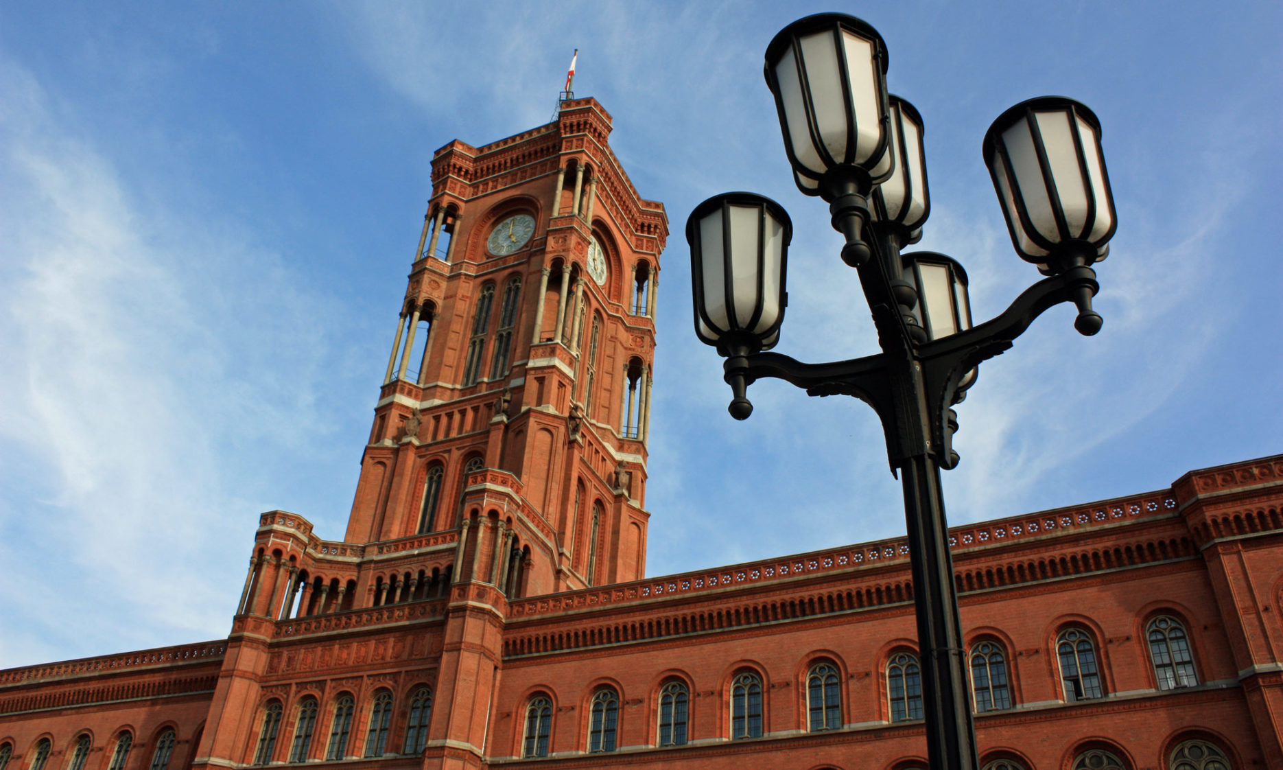 Rotes Rathaus in Berlin -Mitte